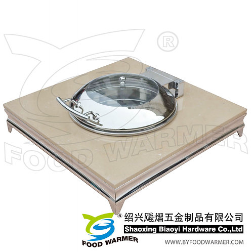 Granite base mini chafing dish