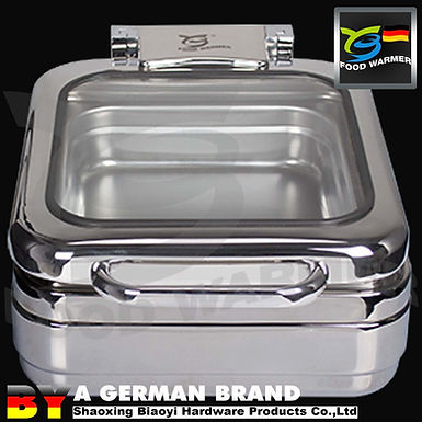 Large Glass Plane Surface Lid GN1/2 Mini Chafing Dish Apply to Induction Cooker