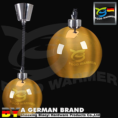 Golden Ball Shape 60°C Infrared Hanging Type Decorating Light for Food Service