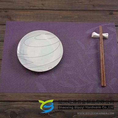 Purple leaves pattern textilene dinner mat