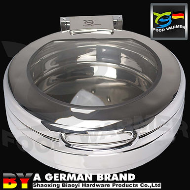 No Frame Design to Induction Cooker 6L Round SUS304 Chafing Dish