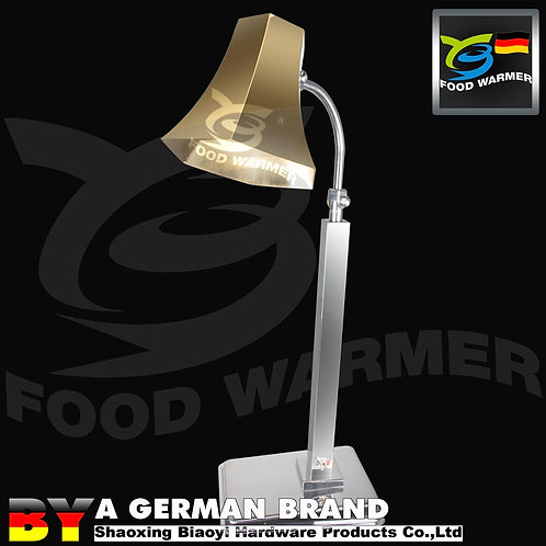 Pro Commercial Kitchen TypeInfrared HeatLamp of Golden Hexahedral Lamp Shade