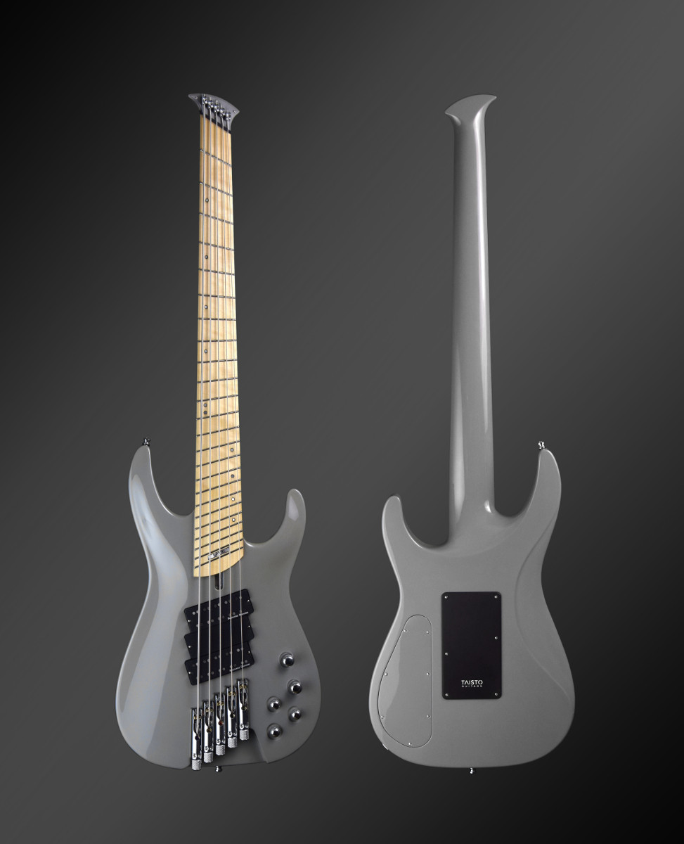 Taisto Guitars iZEN-5MS-HL Primus headless multiscale bass guitar made for Jonas Kuhlberg