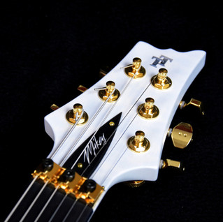 Headstock with signature