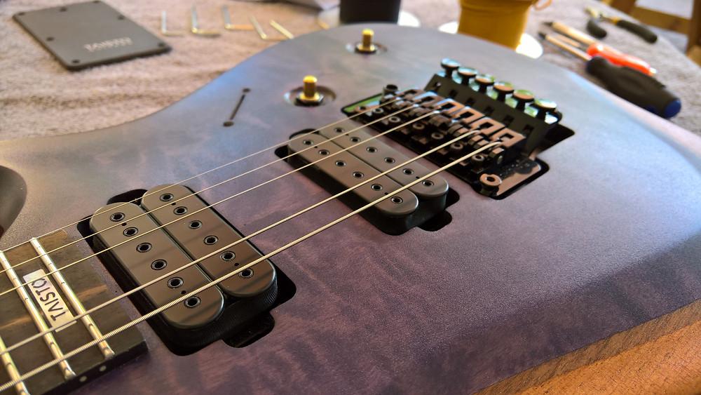 Part assembly of V25-FR Berry custom guitar