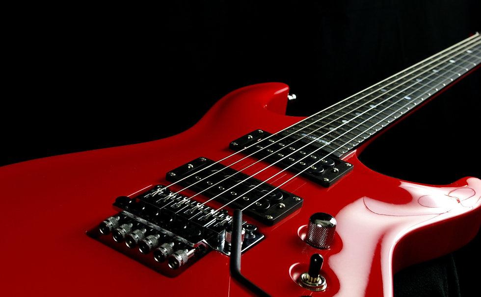 Red Taisto Guitars V25-FR ACM custom guitar