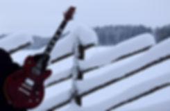 Taisto Guitars AROK-TM custom guitars winter outdoors