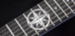 Northern Star inlay on 7-string V25-FX7/H guitar fretboard