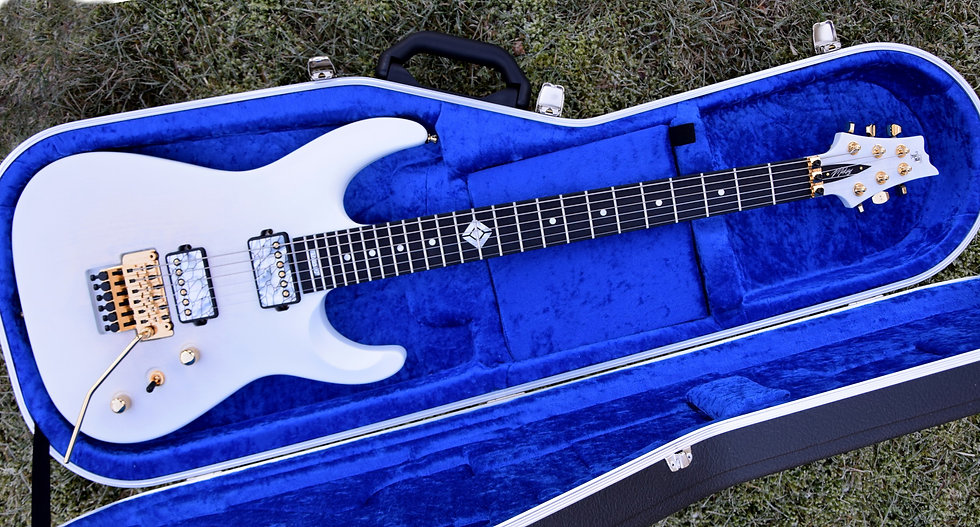 Taisto Guitars V25-FR plus2 Floyd Rose baritone custom guitar