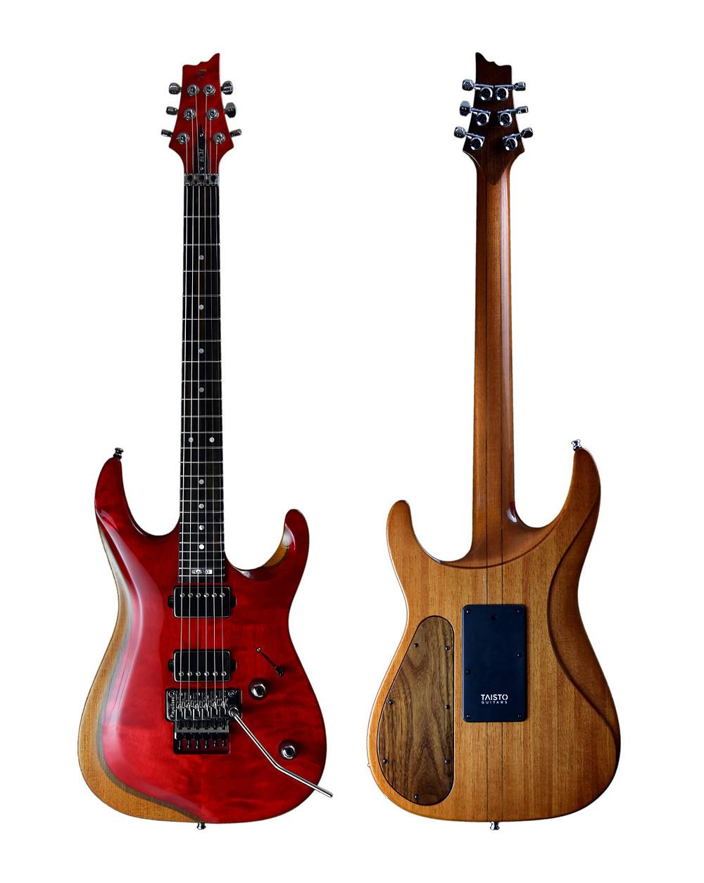Strawberry red V25-FR ECM Berry guitar