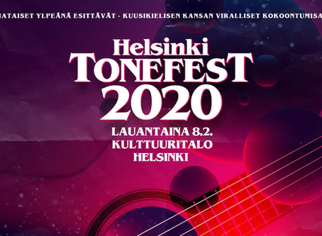 Tomorrow 8th Feb Helsinki Tonefest