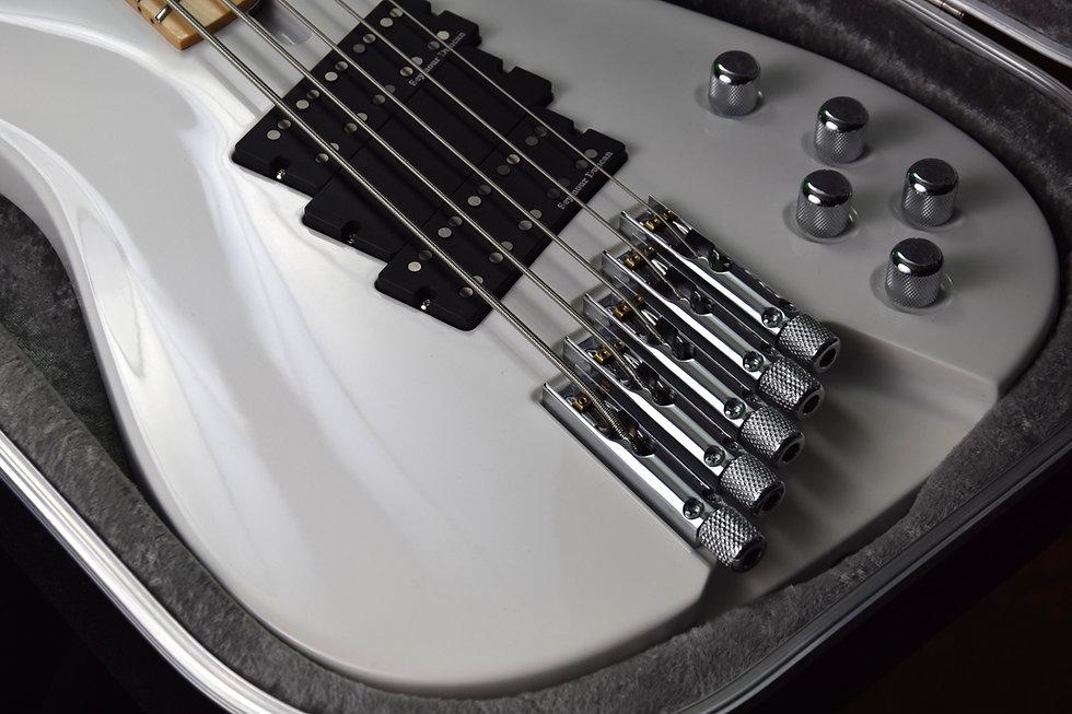 Taisto Guitars iZEN-5MS Headless bass bridge and tuners