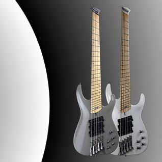 Gray and white iZEN Primus bass