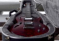 Satin finished Taisto Guitars red AROK-TM custom guitar