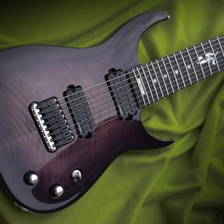 Taisto Guitars V25-FX8/H Skyfire Samuli Federley front view