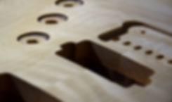 Taisto Guitars V25-FX/H in making phase