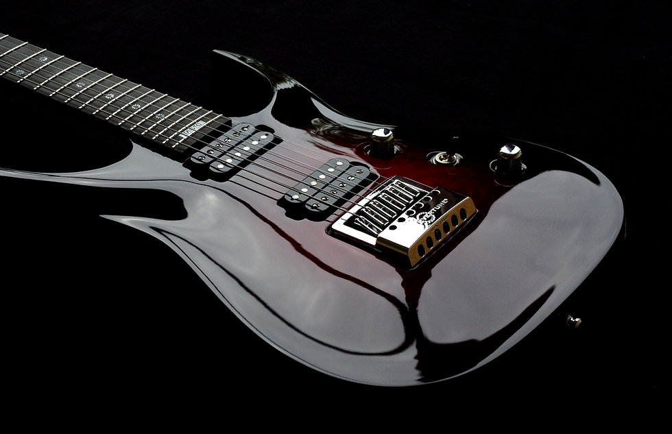 Taisto Guitars V25-ET with Evertune bridge and Bare Knuckle Nailbomb pickups