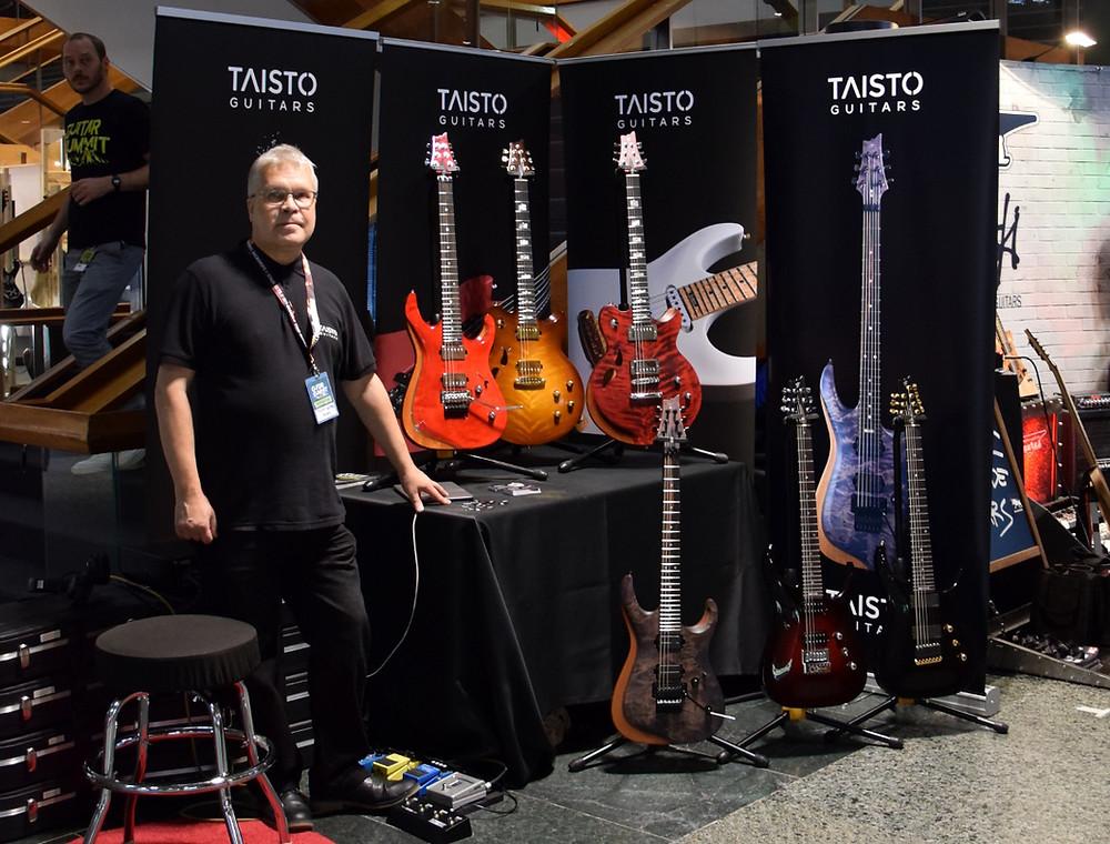Taisto Guitars booth at Guitar Summit 2019, Mannheim, Germany