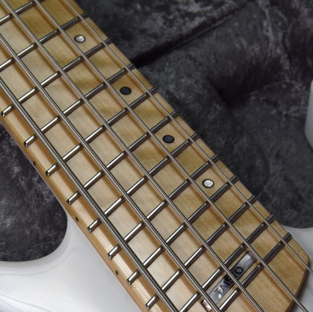 5-string bass fretboard