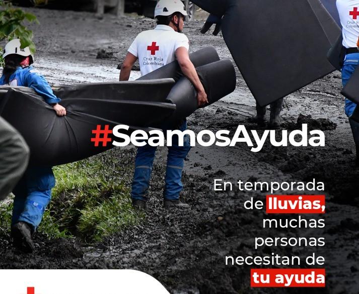Cruz Roja Bogotá lanza campaña de donaciones para ayudar a afectados por temporada de lluvias