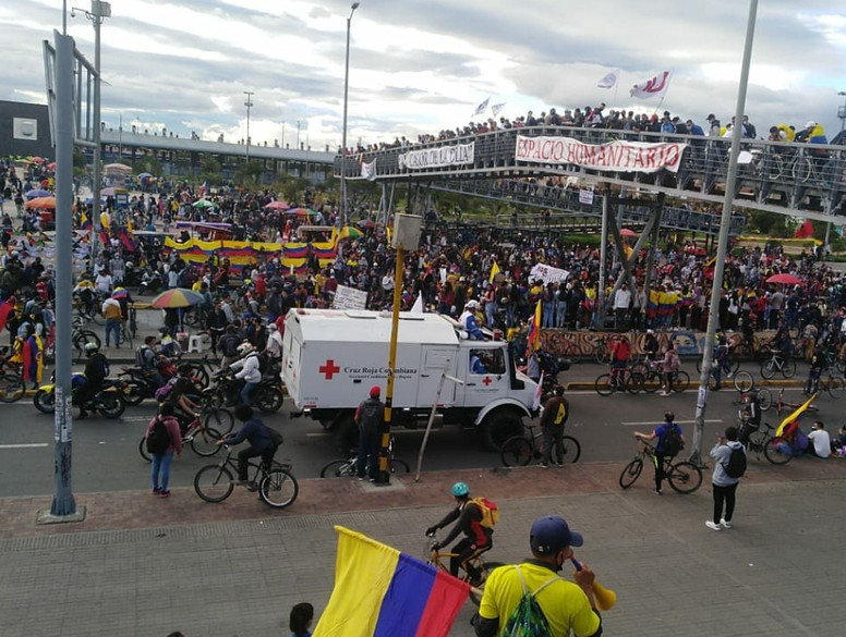 La Cruz Roja Bogotá ha atendido 139 personas en medio de las manifestaciones del 26 de mayo