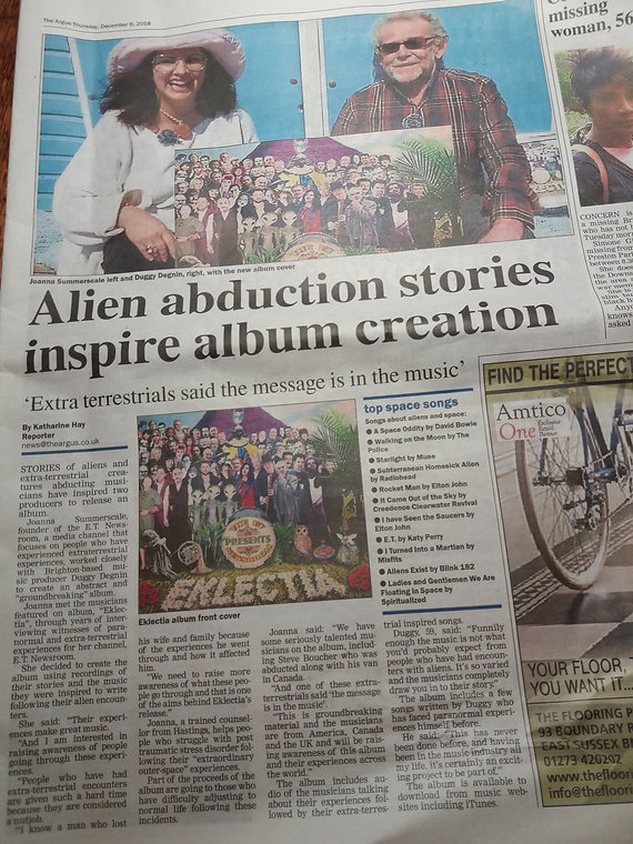 EKLECTIAL PAGE ARTICLE IN ARGUS 20181208