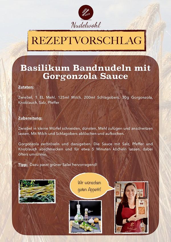 Basilikum-Bandnudeln-mit-Gorgonzola-Sauc