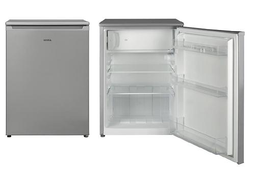 Vestel Typ: KVF 041 BG2 EEK:   A++ Tisch-Kühlschrank mit Gefrierfach Silber 83cm