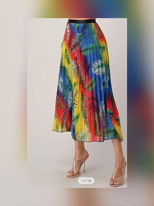 Caribbeana Pleated Skirt