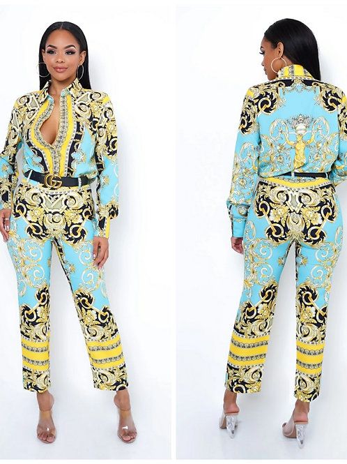 Zena Two Piece Pant Set