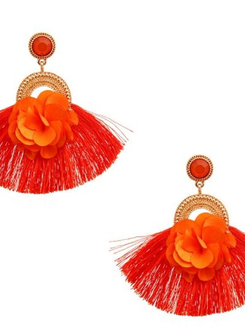 Floral Tangerine Earrings