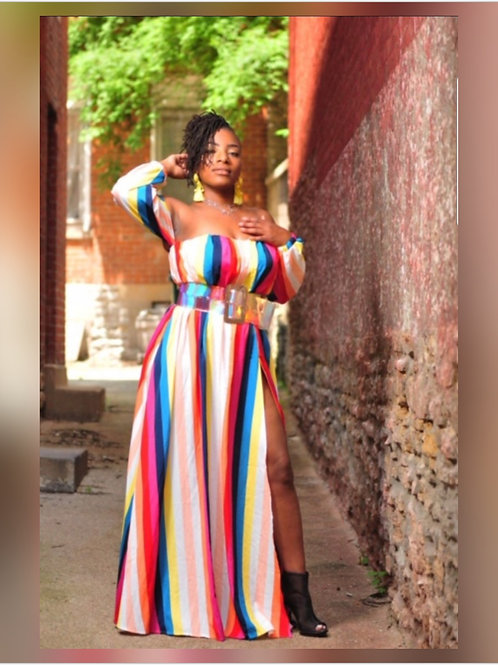 Such A Vibrant Thang Maxi Dress