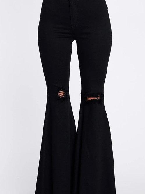 Flare Leg Denim Jeans (PLUS)