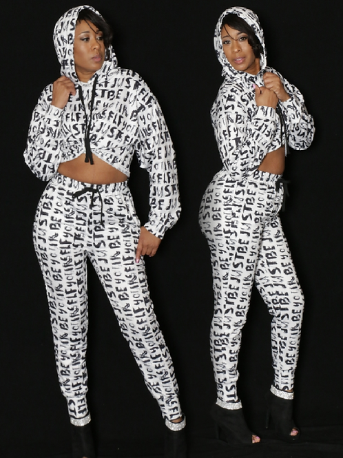 Just Be Yourself Jogger Set