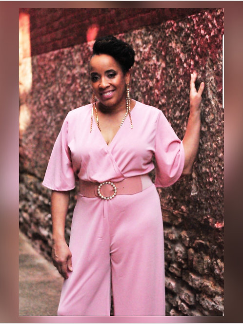 Perfect in Pink Wide Pant Jumpsuit (PLUS)