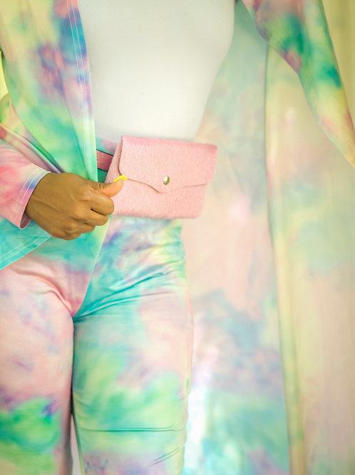 Pink Fur Belt Bag