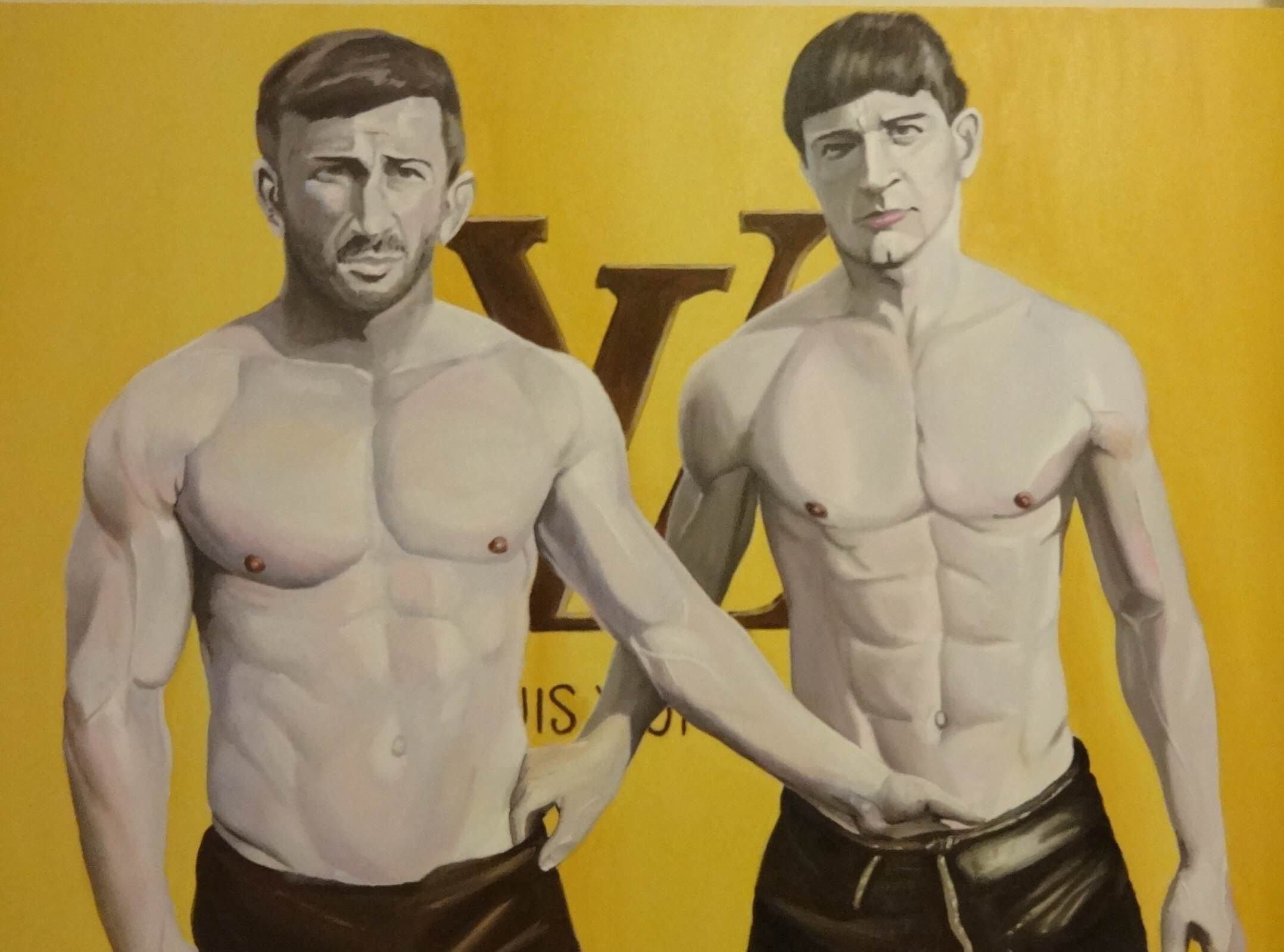 Louis Vuitton Oil Wrestlers