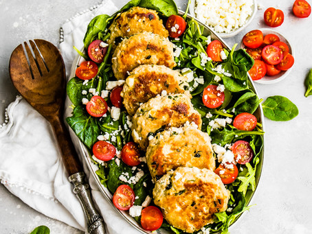Feta and Spinach Chicken Patties