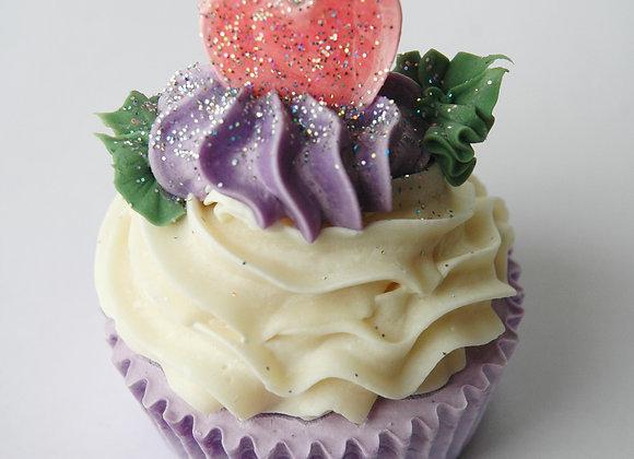 Lavender Heart Soap Cupcake