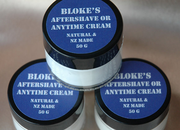 Blokes Aftershave or Anytime Cream