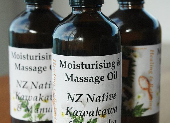 NZ Native Kawakawa & Manuka Moisturising & Massage Oil