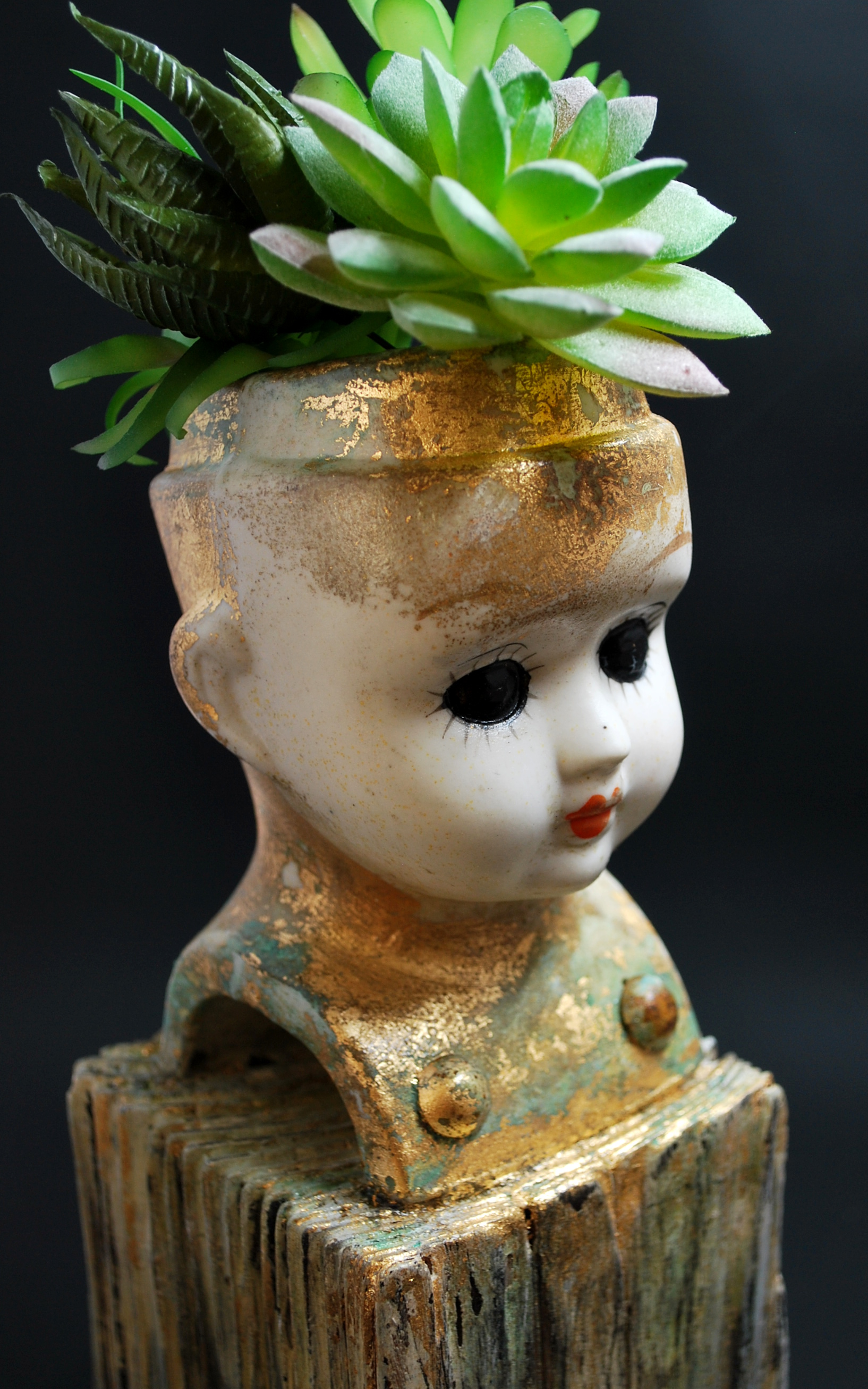 Doll Head Succulent Planter