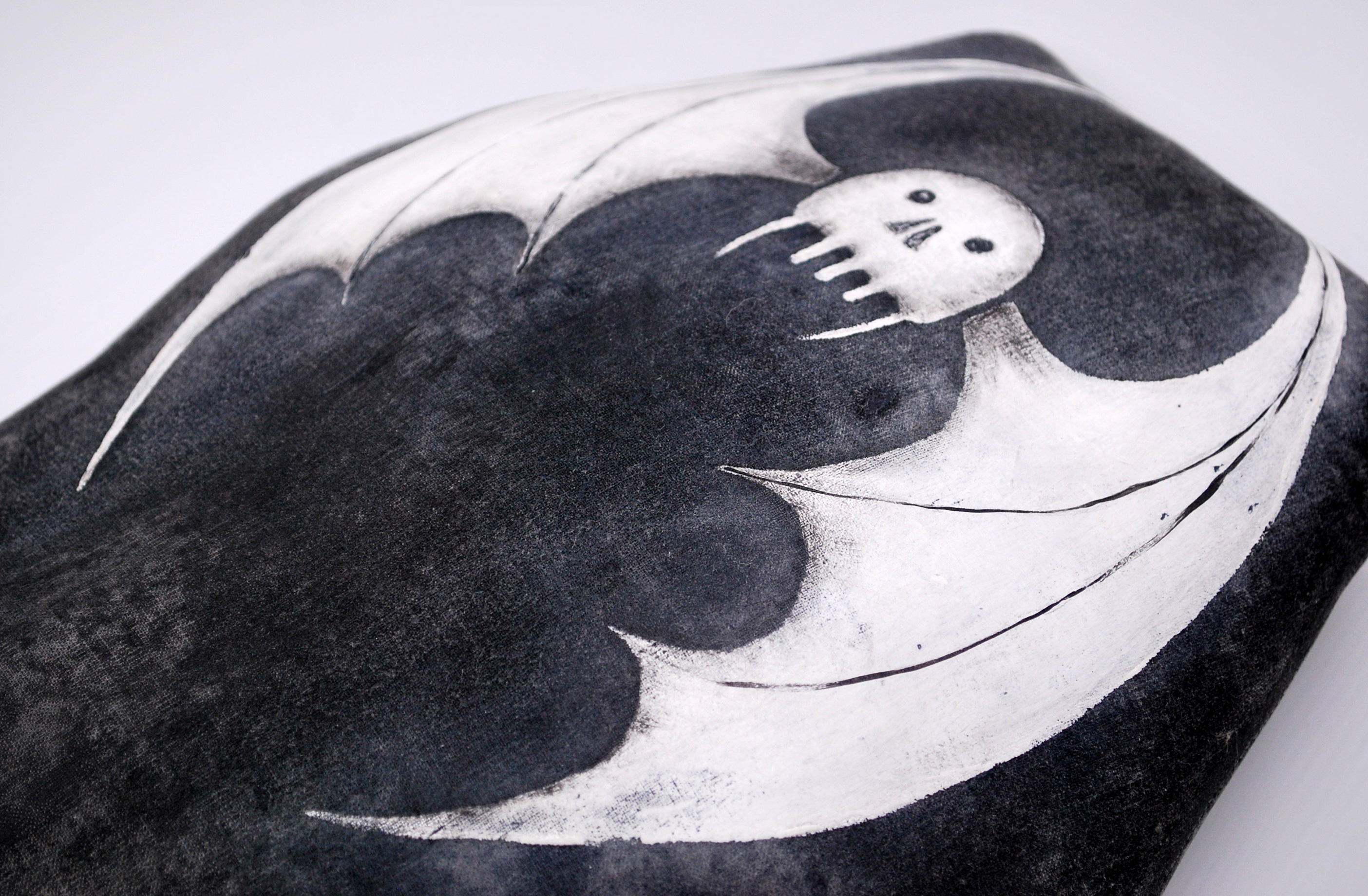 Bat Coffin Pillow