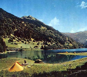 camping lake mountain