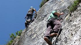 via ferrata climbing extrem