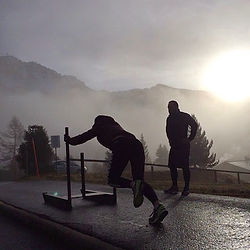 Crossfit fitness verbier mountain training