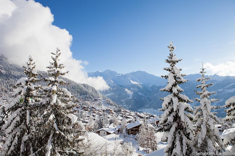 Verbier in the winter