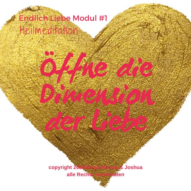 Wechsele in die Dimension der Liebe