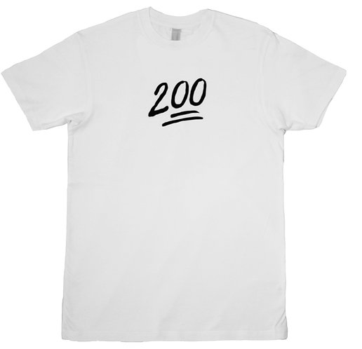 200 Monogram Tee White (Non-Reflective)