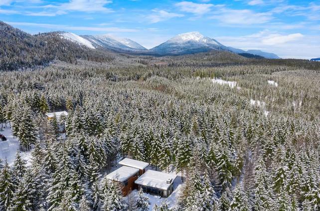 Stillwater Snow Aerial View